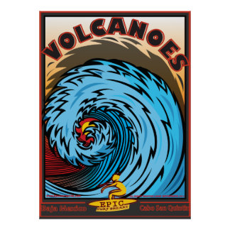 Volcanoes Baja Mexico Cabo San Quintin Poster