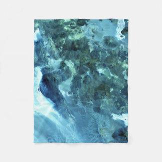 Volcanoes Satellite Image Fleece Blanket