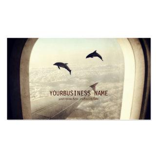 Voler avec des dauphins carte de visite standard