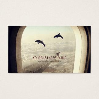 Voler avec des dauphins cartes de visite