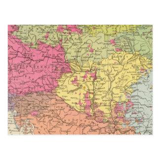Volkerkarte v Oesterreich Ungarn, Austria Hungary Postcard