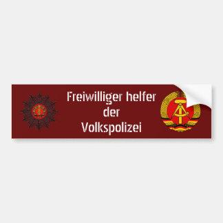 Volkspolizei's helper bumper sticker