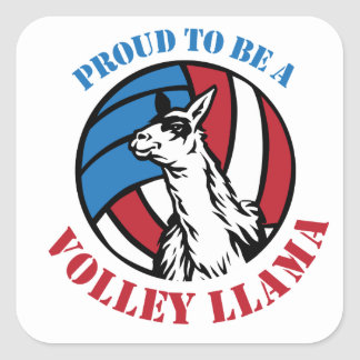 Volley Llama Gift Giving Swag Square Sticker