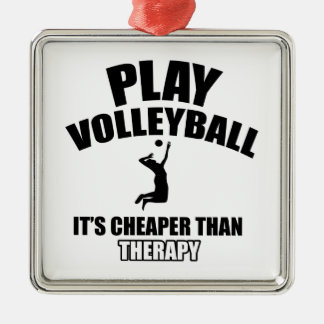 volleyall designs metal ornament