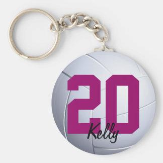 Volleybal folâtre le porte - clé porte-clé rond