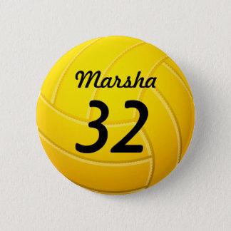 Volleyball 2 Inch Round Button