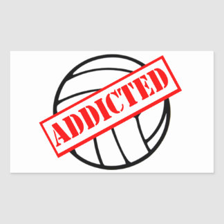 Volleyball Addicted Stamp Sticker