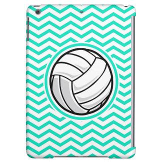 Volleyball; Aqua Green Chevron iPad Air Covers