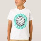 Volleyball; Aqua Green Chevron T-Shirt