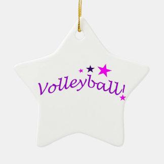 Volleyball arqué avec des étoiles ornement de noël