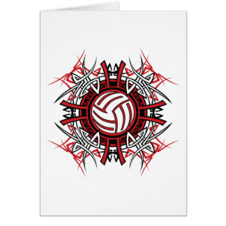 Volleyball Art Greeting Cards