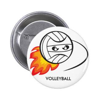 Volleyball ball 2 inch round button