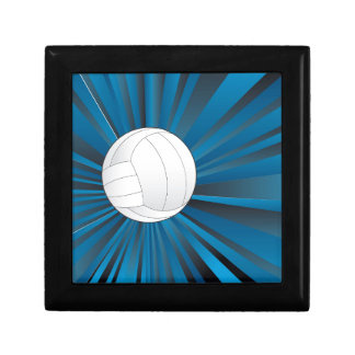 Volleyball Ball on Rays Background Gift Box