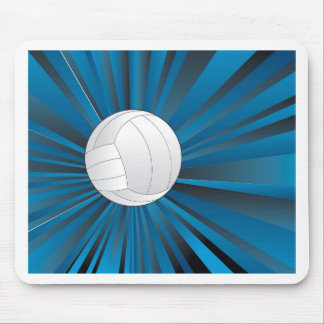 Volleyball Ball on Rays Background Mouse Pad