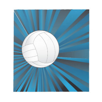 Volleyball Ball on Rays Background Notepads