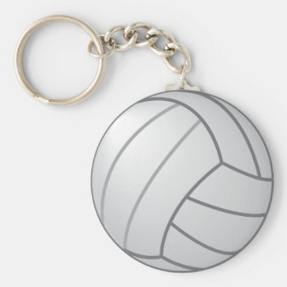 Volleyball Basic Round Button Keychain