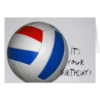 Volleyball Birthday Card