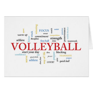 Volleyball Birthday with Words Card
