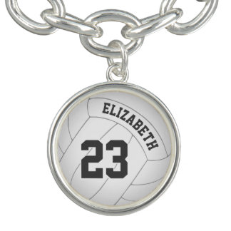 volleyball bracelet w player's name/jersey number