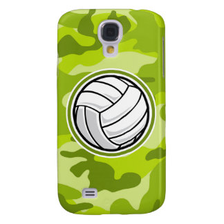 Volleyball bright green camo camouflage samsung galaxy s4 case