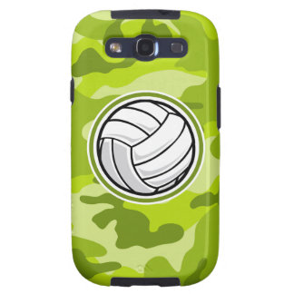 Volleyball bright green camo camouflage galaxy s3 cases