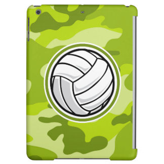 Volleyball bright green camo camouflage iPad air covers