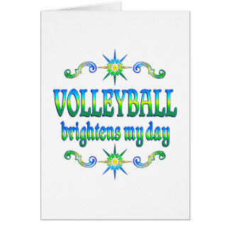 Volleyball Brightens Card