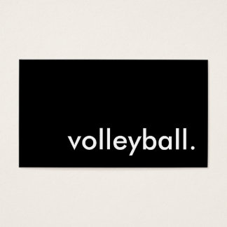 volleyball. business card