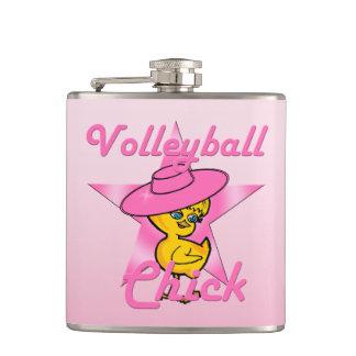 Volleyball Chick #8 Flasks