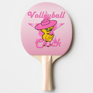 Volleyball Chick #8 Ping Pong Paddle