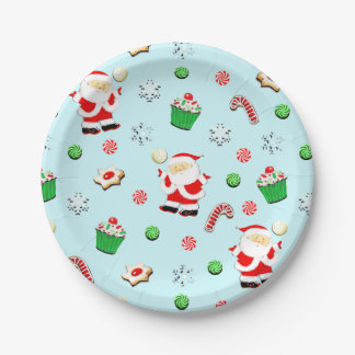 volleyball Christmas Paper Plate