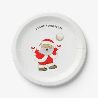 volleyball Christmas party Paper Plate
