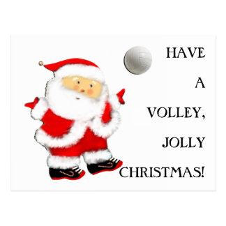 Volleyball Christmas Postcard