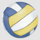 Volleyball Classic Round Sticker