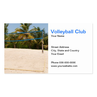 Volleyball Club Business Card Business Card