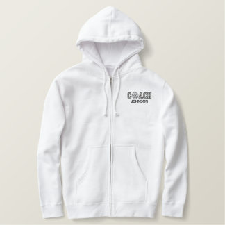 Volleyball Coach Embroidered Hoodie