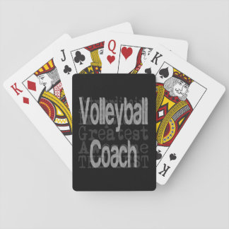 Volleyball Coach Extraordinaire Playing Cards