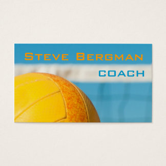 Volleyball Coach Player Trainer Team Game Business Card