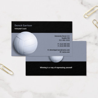 Volleyball Coach   Sport Business Card