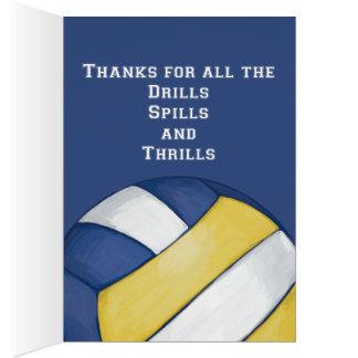 Volleyball Coach Thank You Card