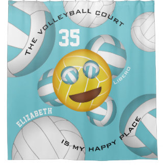 Volleyball court happy place smiley vball emoji