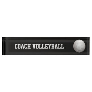Volleyball custom nameplate