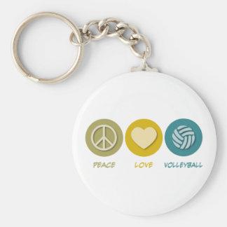 Volleyball d'amour de paix porte-clefs
