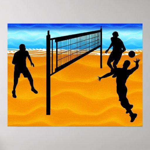 Volleyball de plage affiches