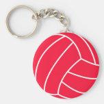 Volleyball de rouge d'écarlate porte-clé