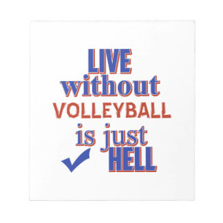 VOLLEYBALL DESIGn Notepad