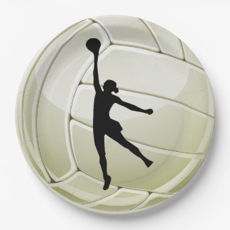 Volleyball Design Paper Party Plate