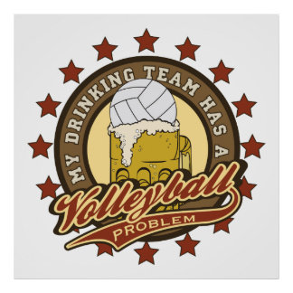 Volleyball Drinking Team Poster