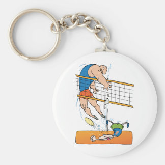 Volleyball drôle porte-clefs