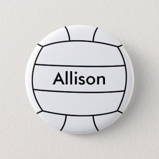 Volleyball Flair Button